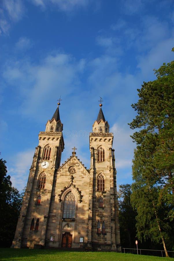 Flèche d'église images stock