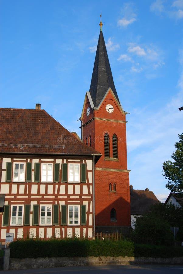Flèche d'église photo stock