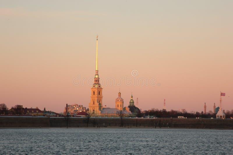 Flèche d'île de Vasilievsky image stock