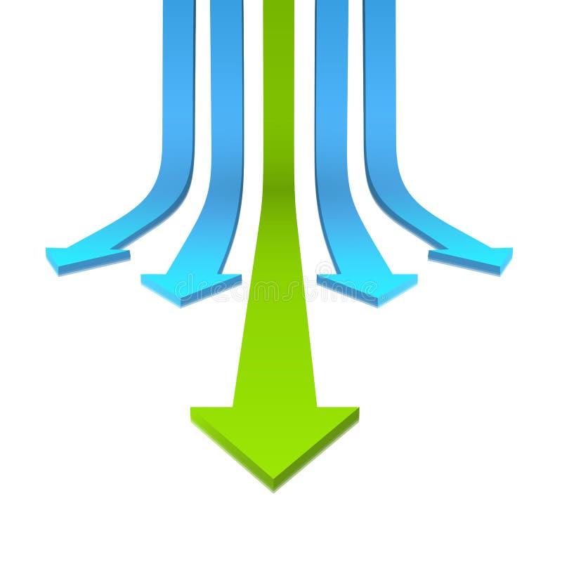 Flèche 3D illustration de vecteur
