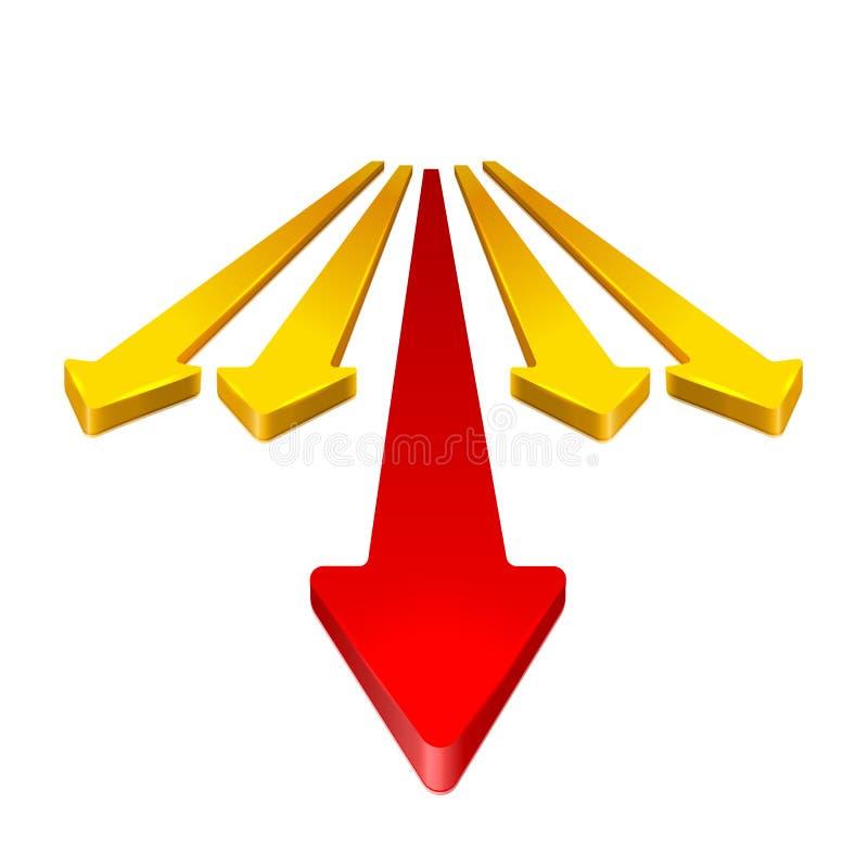 Flèche 3D illustration stock
