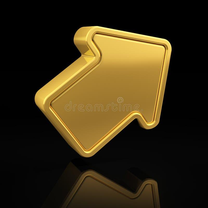 Flèche d'or photo libre de droits