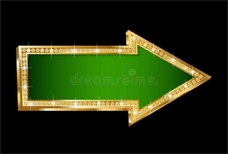 Flèche d'or illustration stock