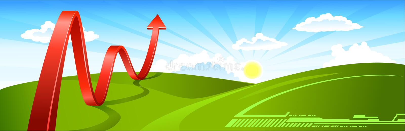 Flèche d'affaires d'horizontal d'été illustration de vecteur