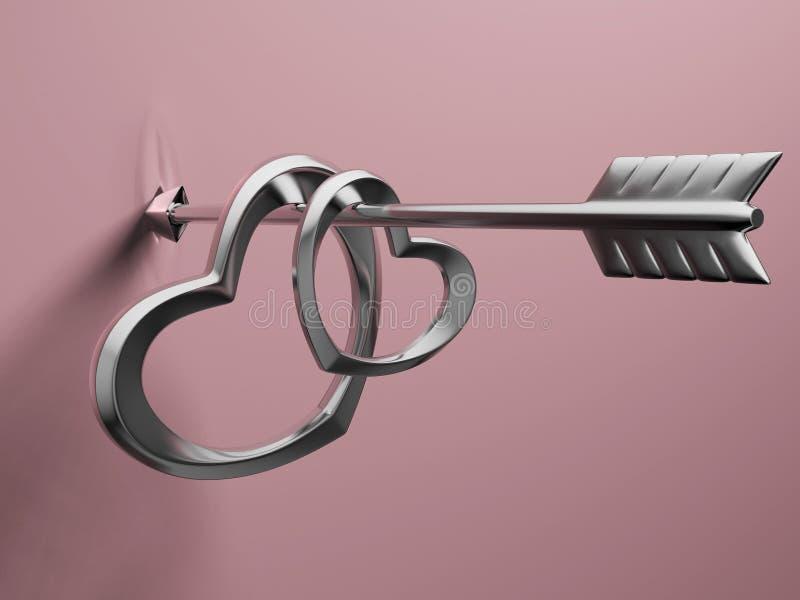 Flèche d'amour illustration libre de droits