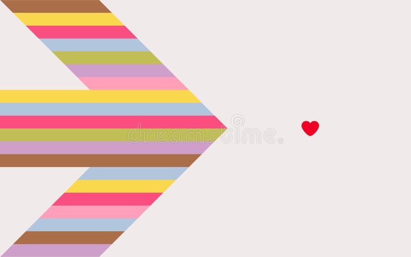 Flèche d'amour illustration de vecteur