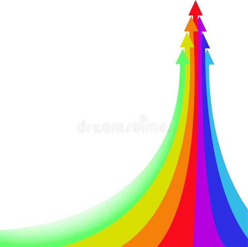 Flèche d'arc-en-ciel illustration libre de droits