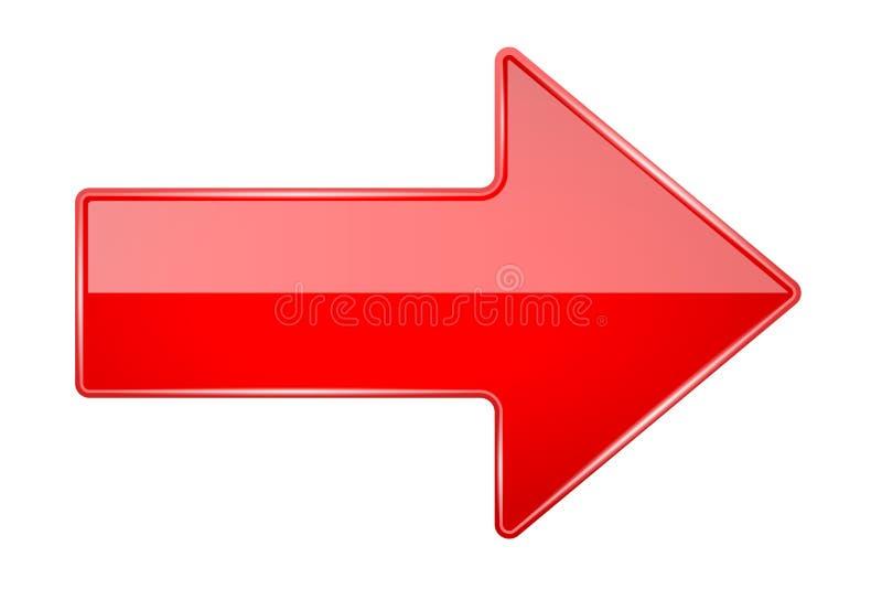 Flèche 3d brillante rouge illustration stock