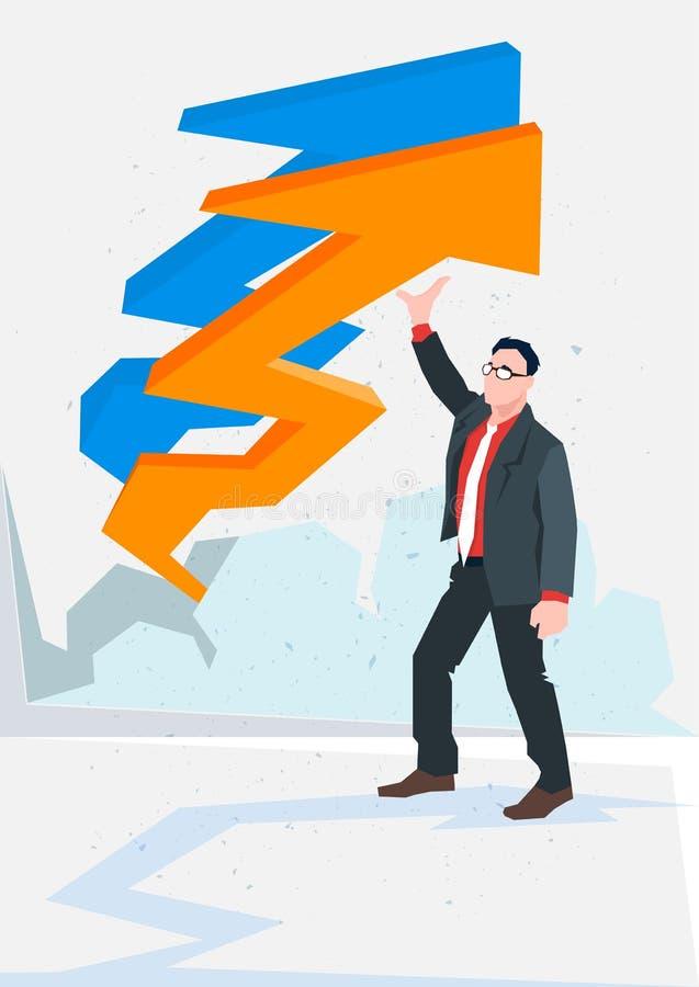 Download Flèche D'homme D'affaires Vers Le Haut De Concept Financier De Succès Illustration de Vecteur - Illustration du développez, affaires: 77159181