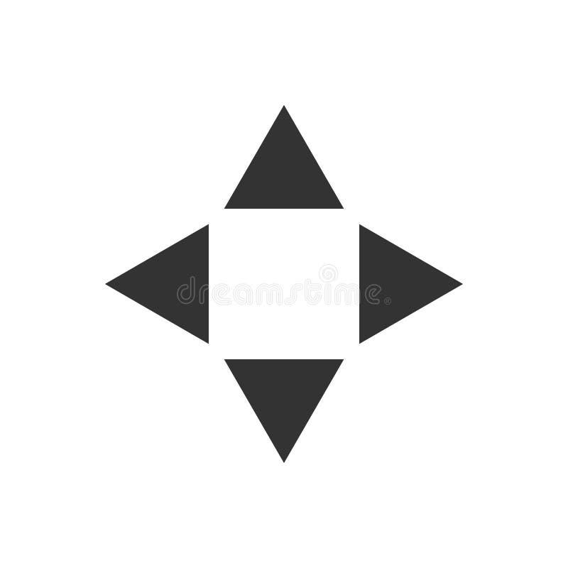 Flèche d'illustration de vecteur en bas d'icône plate arrière et prochaine illustration stock