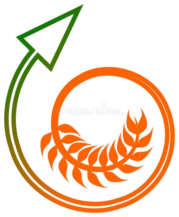 Flèche de blé illustration libre de droits