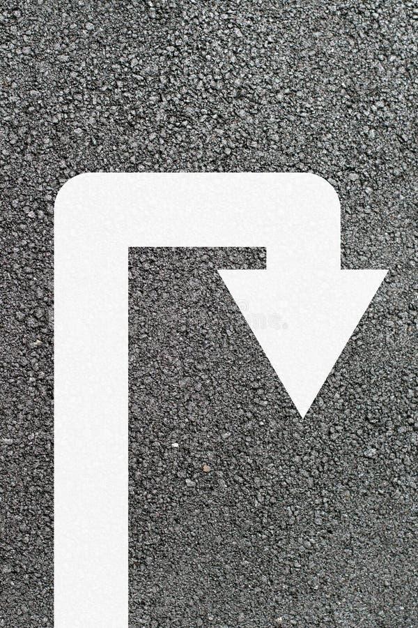 Flèche de demi-tour images stock