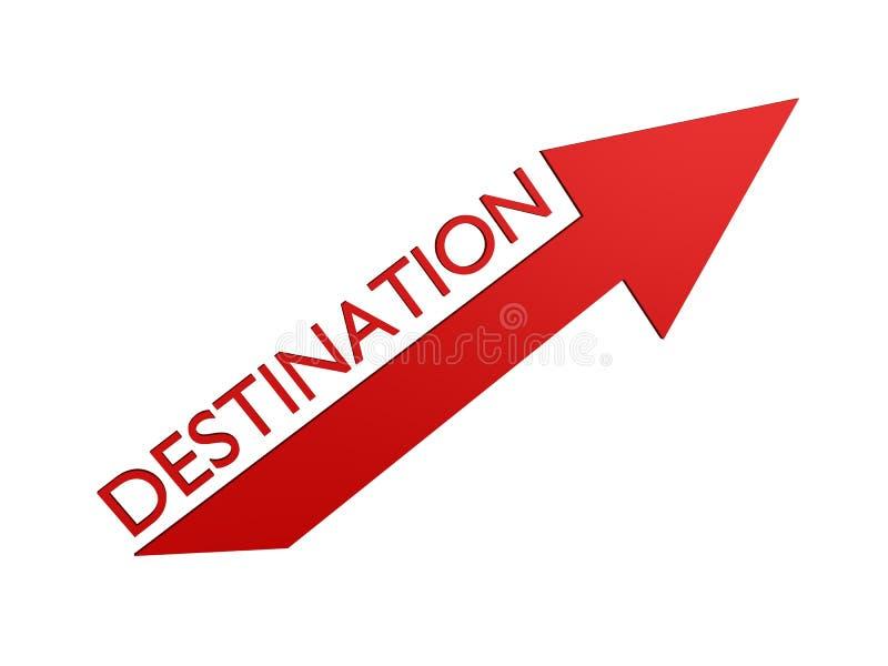 Flèche de destination illustration de vecteur