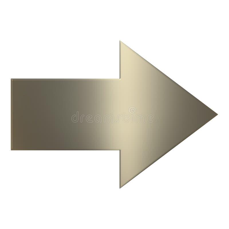 flèche de l'or 3d illustration libre de droits