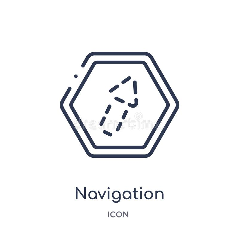 flèche de navigation avec l'icône cassée de la collection d'ensemble d'interface utilisateurs Ligne mince flèche de navigation av illustration de vecteur