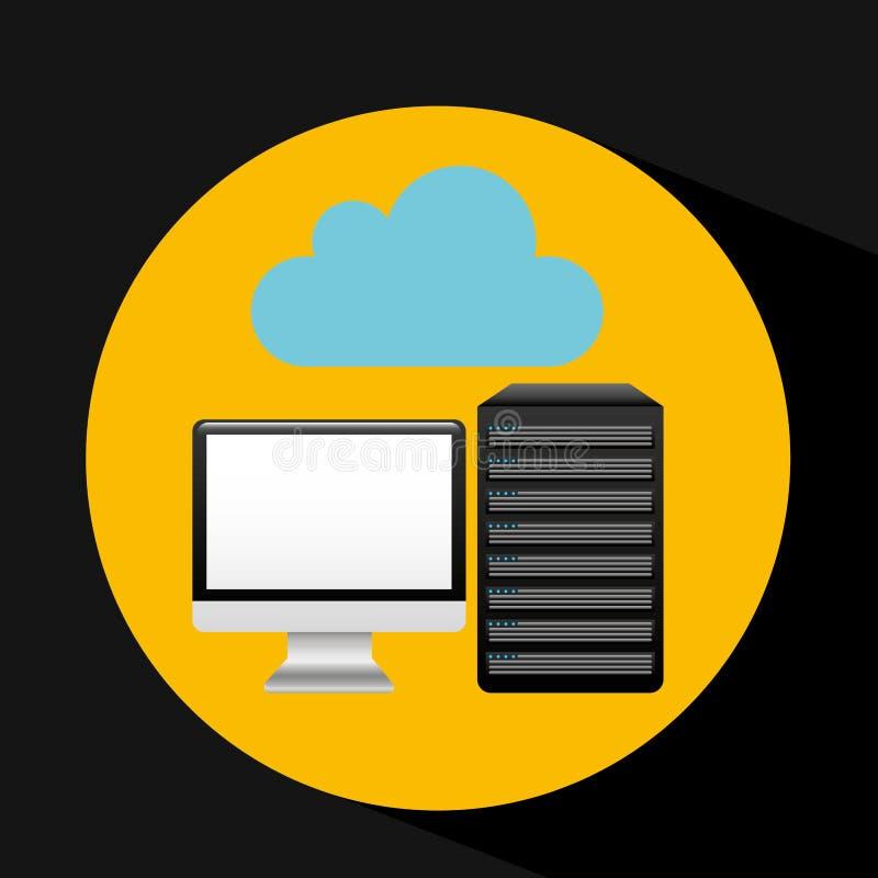 Flèche de nuage de base de données de PC illustration libre de droits