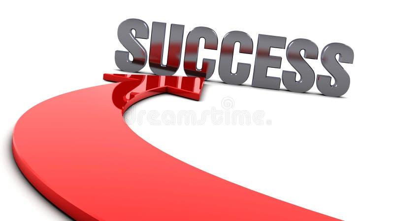 Flèche de réussite illustration de vecteur