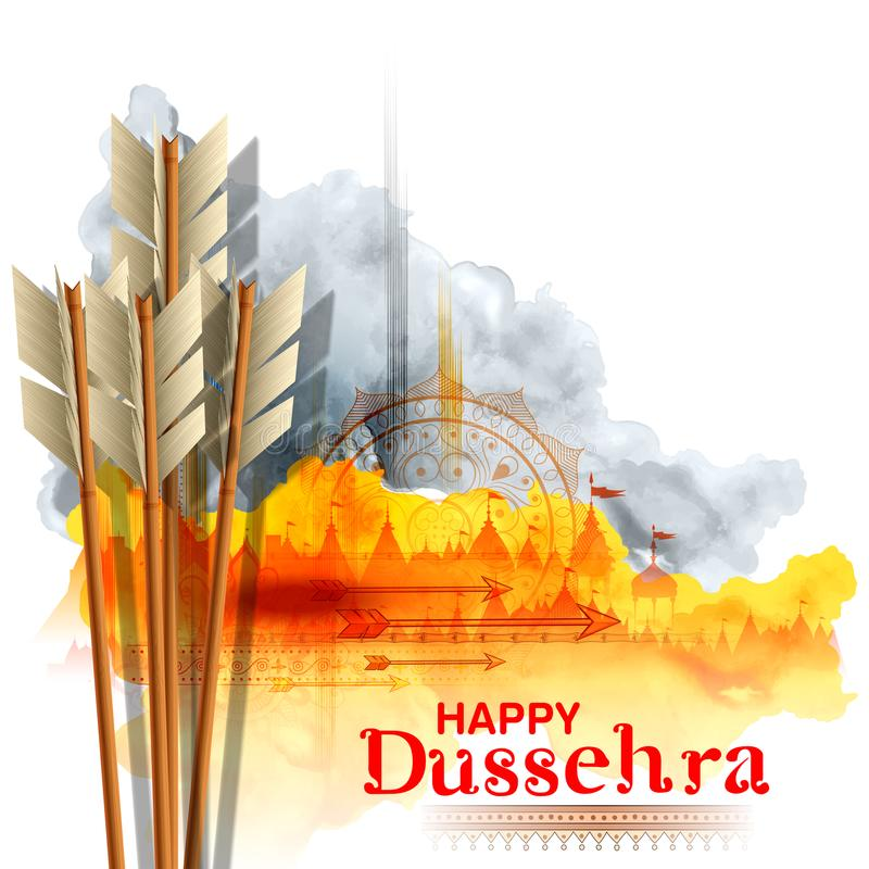 Flèche de Rama dans le festival heureux de Dussehra du fond d'Inde illustration de vecteur