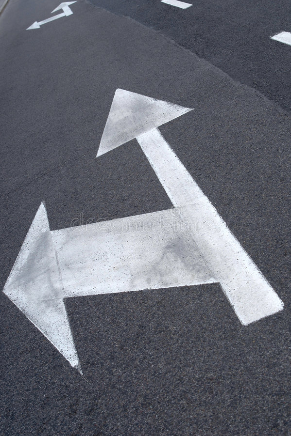 Flèche de rue images libres de droits