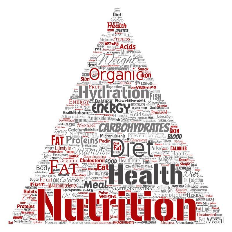 Flèche de triangle de régime de santé de nutrition de vecteur illustration stock