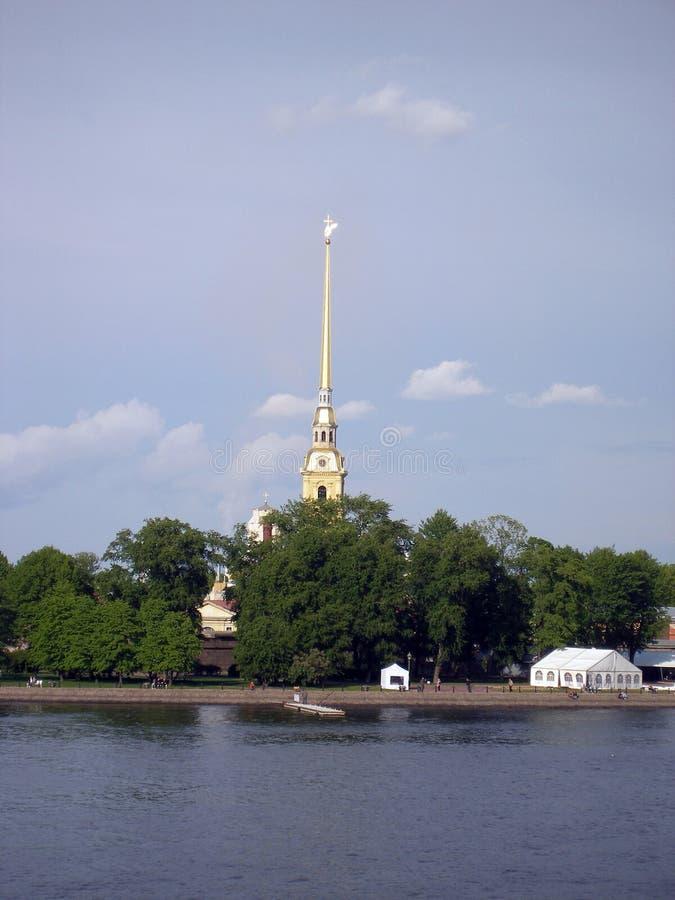 Flèche de Vasilyevsky Island images libres de droits