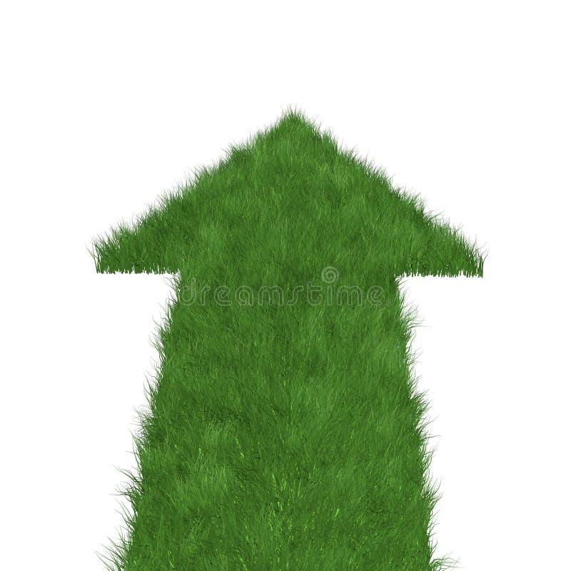 Flèche droite d'herbe illustration libre de droits