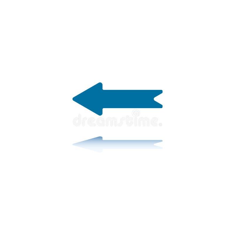 Flèche droite gauche illustration stock
