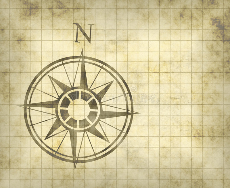 Flèche du nord de carte de compas illustration de vecteur