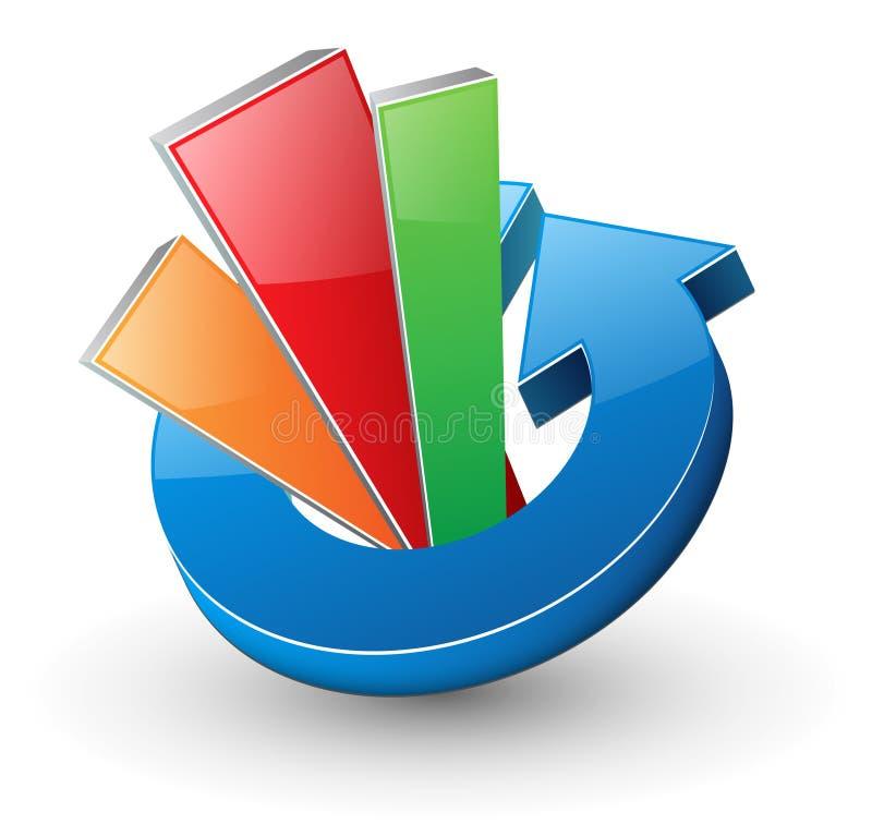 Flèche dynamique de logo illustration de vecteur