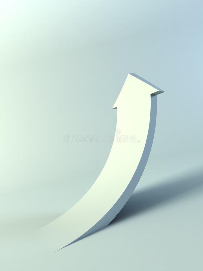 Flèche en hausse illustration stock