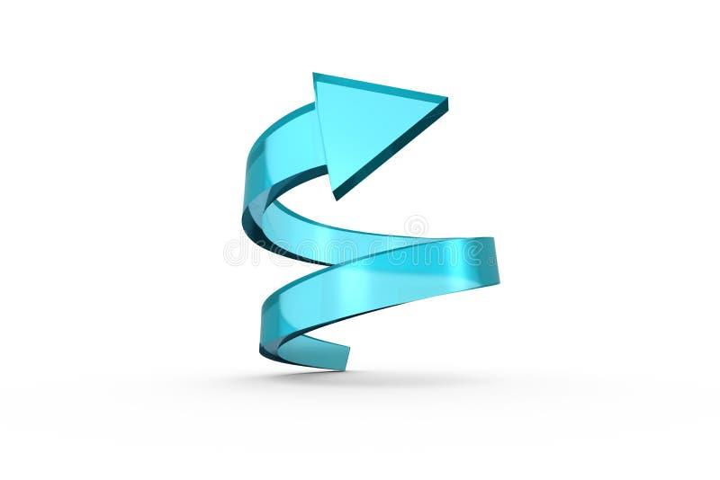 Flèche en spirale bleue illustration stock