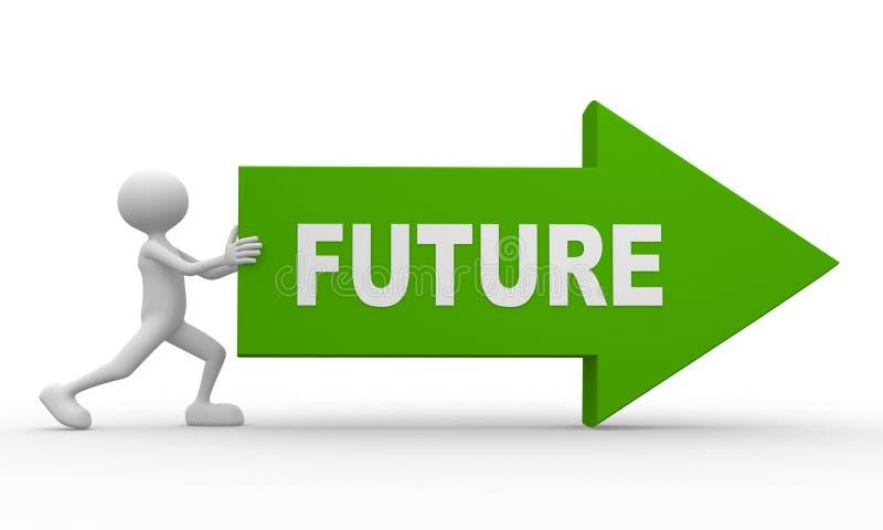 Flèche et avenir de mot illustration stock