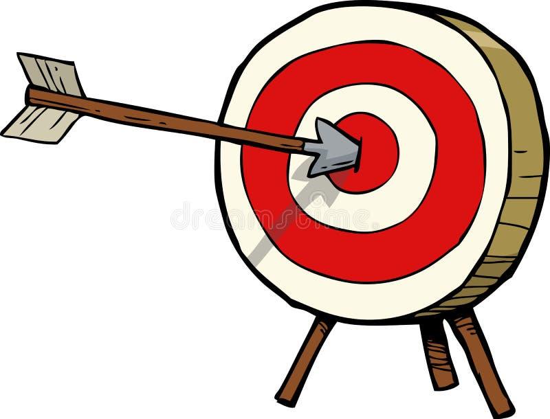 Flèche et cible illustration libre de droits