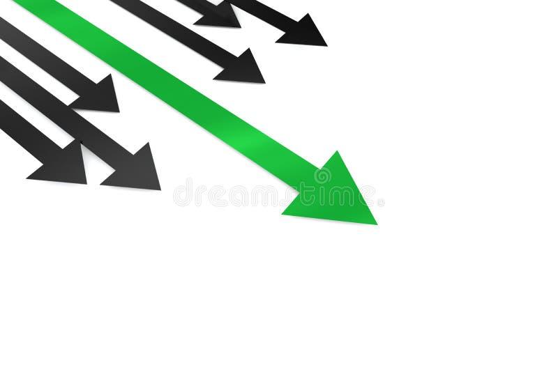 Flèche et d'autres de vert de concept de direction illustration libre de droits