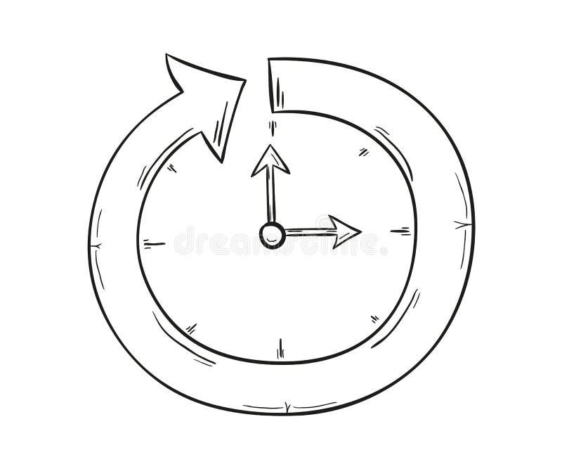 Flèche et horloge illustration libre de droits