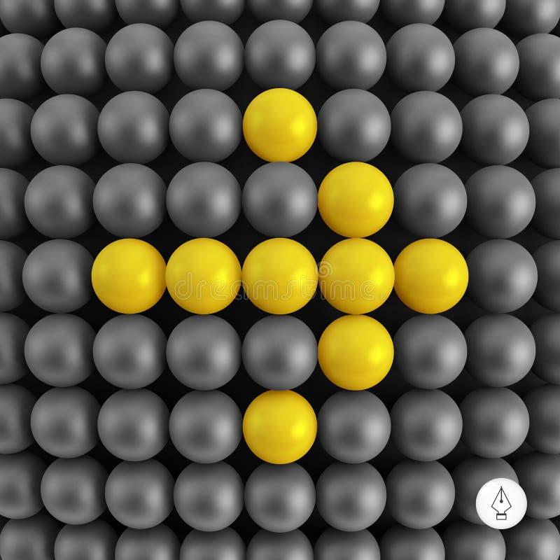 flèche Fond abstrait de technologie avec des boules illustration de vecteur