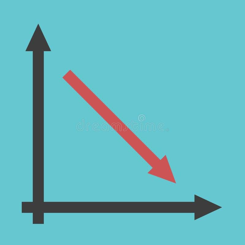 Flèche, graphique, déclin, récession illustration libre de droits