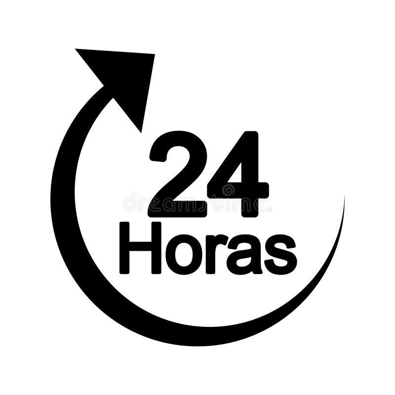 flèche 24 heures de service illustration libre de droits