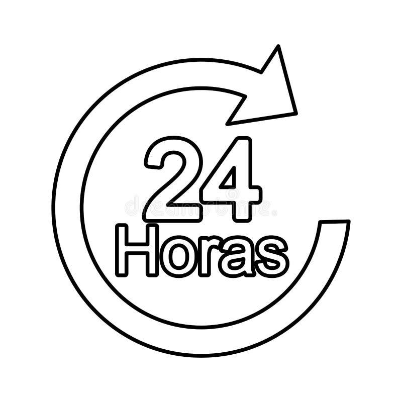 flèche 24 heures de service illustration de vecteur