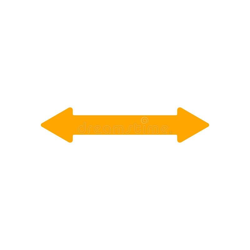 Flèche horizontale droite illustration stock