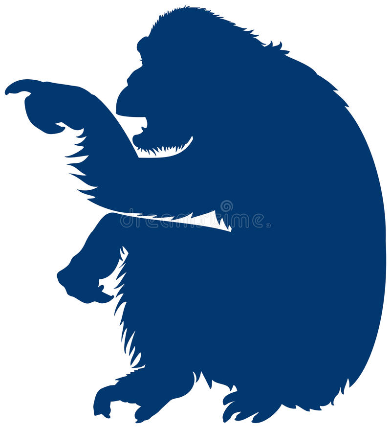Flèche indicatrice de singe, signe instructif illustration de vecteur