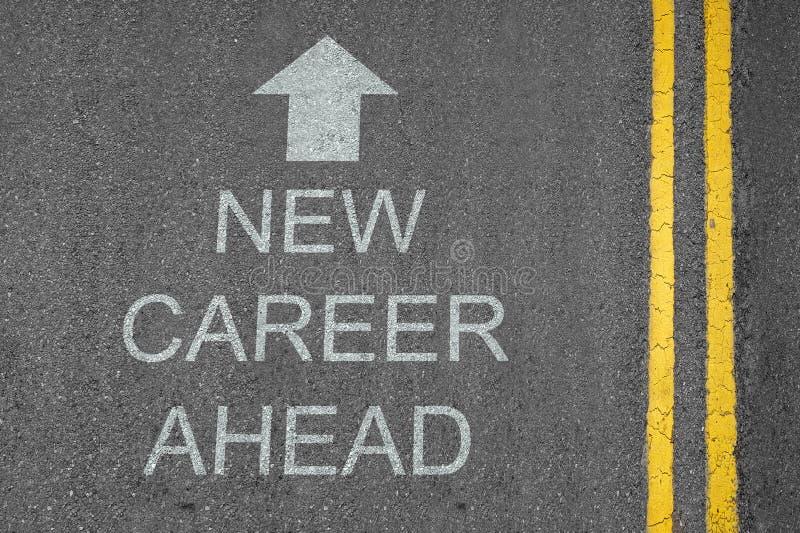 Flèche neuve de carrière en avant photo libre de droits