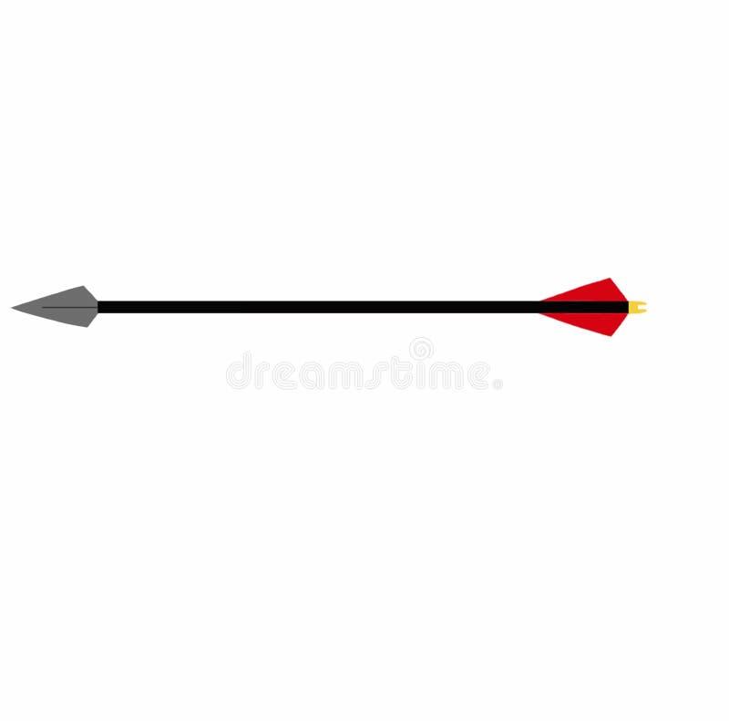 Flèche noire illustration stock