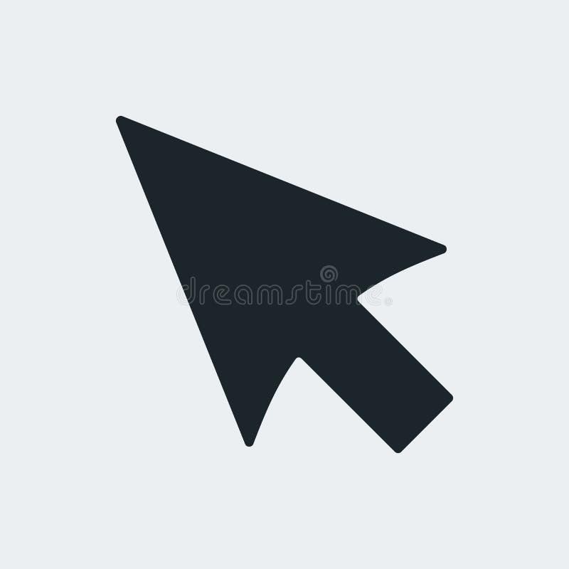 Flèche noire de curseur illustration libre de droits