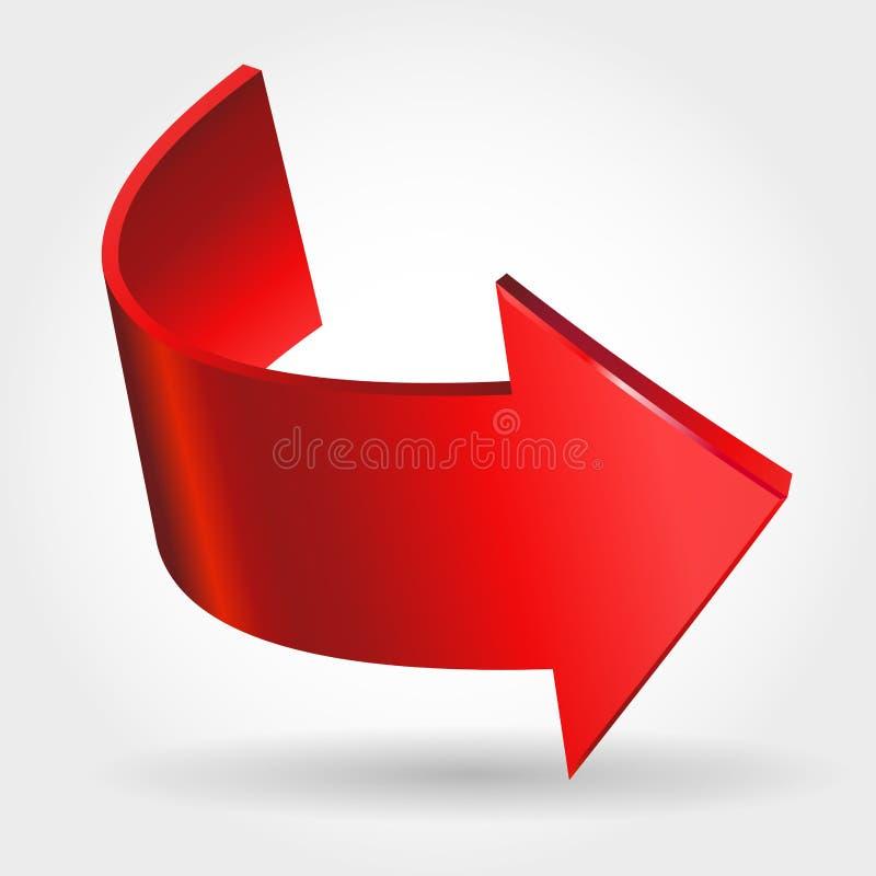 Flèche rouge illustration de vecteur