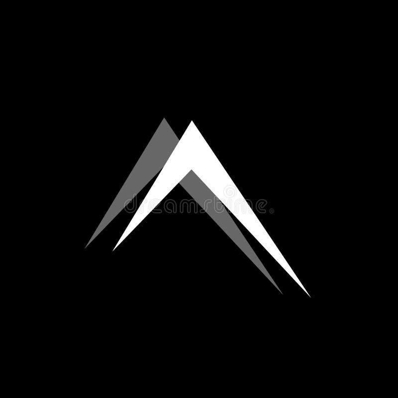 Flèche simple vers le haut de vecteur de logo de décoration de symbole illustration de vecteur