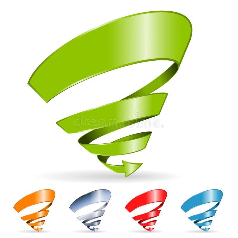 Flèche spiralée illustration stock