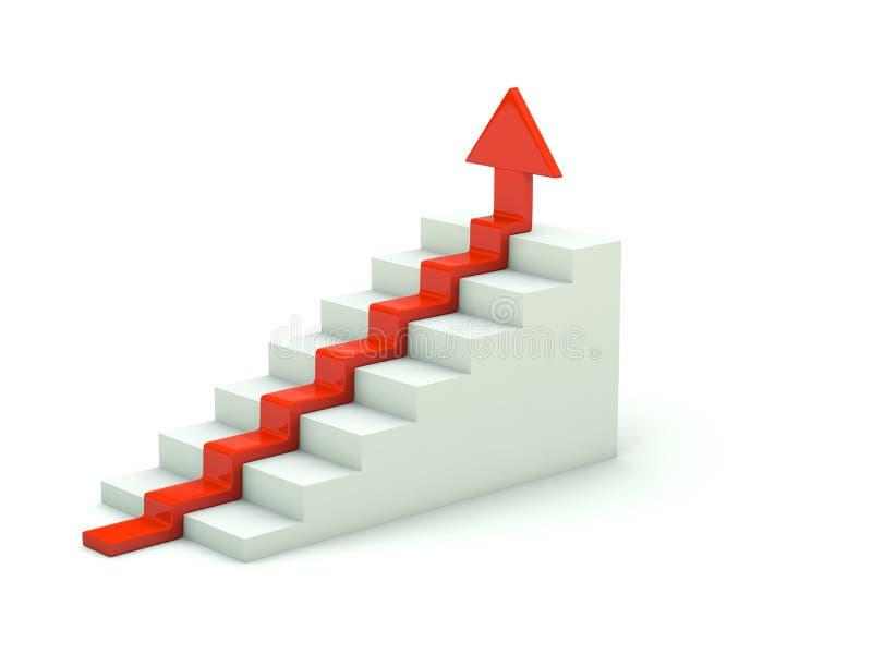 Flèche sur l'escalier illustration libre de droits