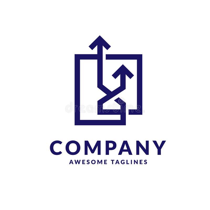 flèche vers le haut de concept de logo d'affaires de lien illustration libre de droits