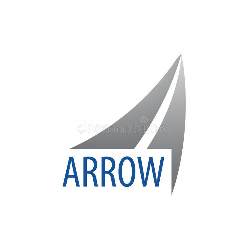 Flèche vers le haut de conception de l'avant-projet de logo Élément graphique de calibre de symbole illustration stock